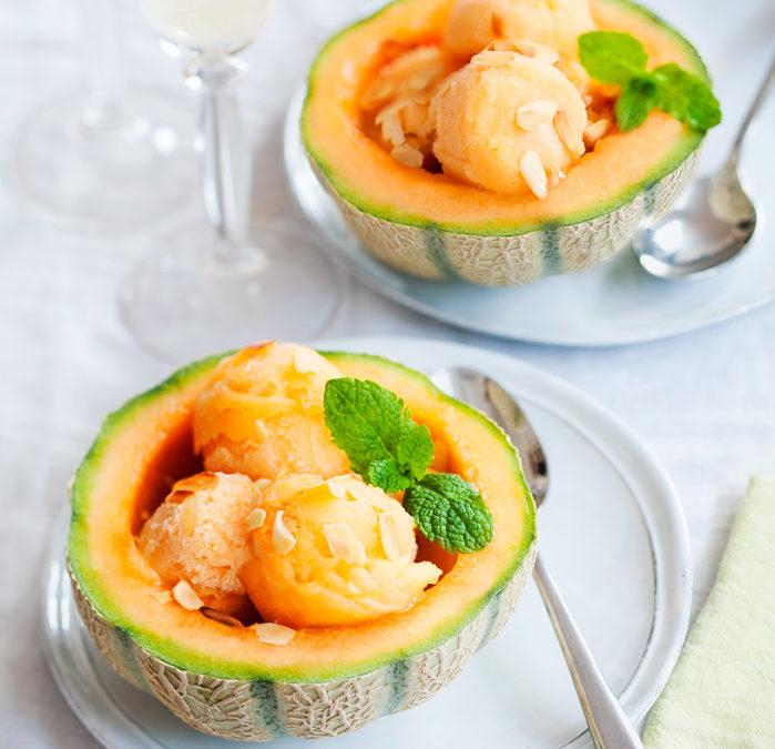 Soupière de glace de melon