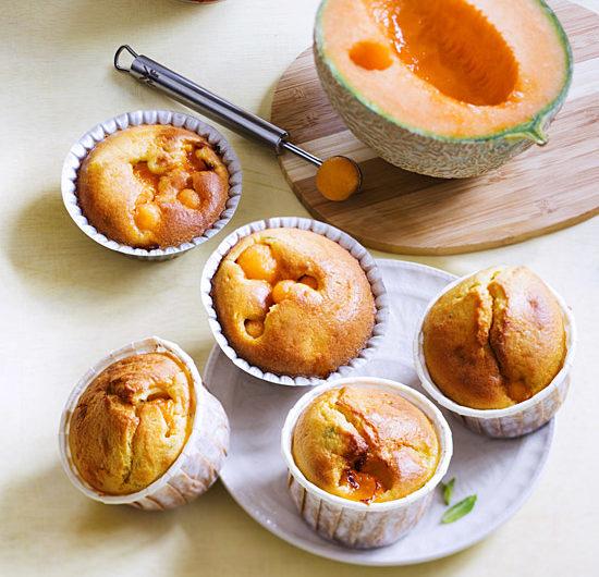 Petits moelleux Melon de nos Régions,menthe et noisette