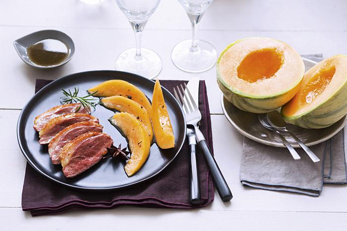 Magret de canard aux épices et au melon denos régions caramélisé