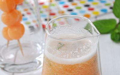Cocktail melon-citron-menthe antigaspi