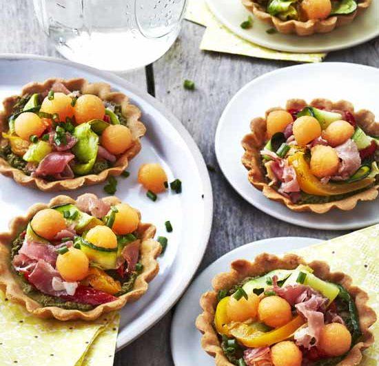Tartelette apéritive au melon