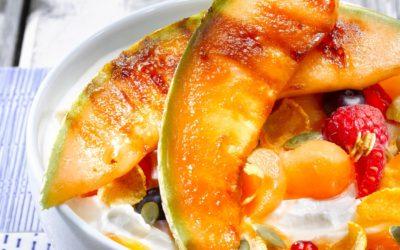Melon rôti citron vert et miel